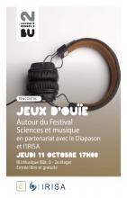 Affiche Jeux d'ouïe du jeudi 11 octobre 2018 - SCD Rennes 2