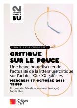 Affiche Critique sur le pouce du 17/10/2018 - SCD Rennes 2