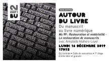 Affiche de la rencontre Autour du livre du 16/12/2019 - BU Rennes 2